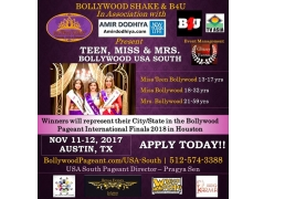 Bollywood Pageant Usa South Buy Tickets Online | Austin , Sun , 2017-11-12 | ThisisShow