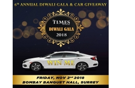 Diwali Gala & Car Give Away 2018 Buy Tickets Online | Surrey , Fri , 2018-11-02 | ThisisShow